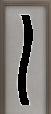 Glassy 18 fermavetro laccato argento*